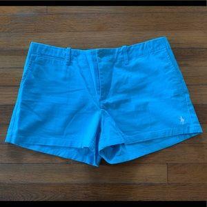 Ralph Lauren Polo light blue shorts size 10.